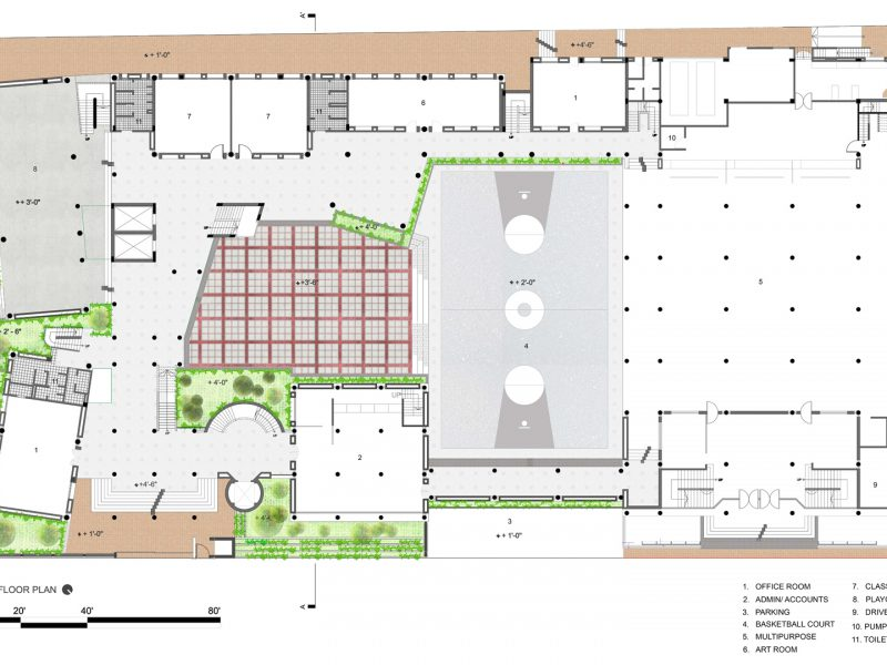 Scholastica School, Uttara_ground-floor-plan