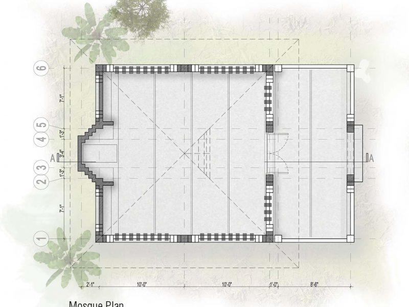 Plan: Mosque
