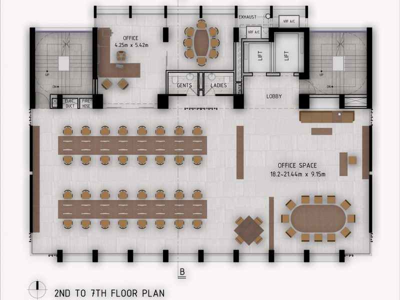 2nd -7th Floor Plan