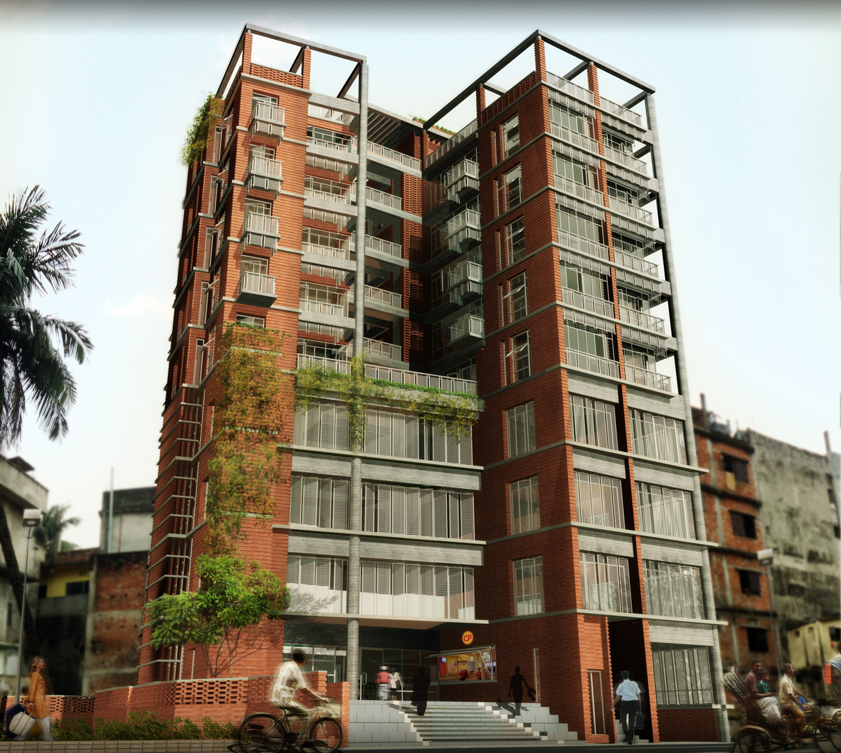 Carports For Apartment Buildings: APARTMENT CUM COMMERCIAL BUILDING